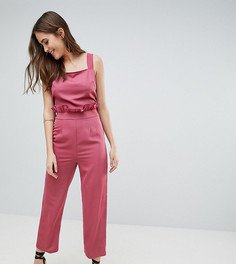 Комбинезон с завязкой на спине Fashion Union Tall - Розовый