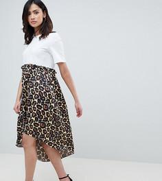 Свободное платье асимметричной длины с принтом ASOS DESIGN Tall - Мульти