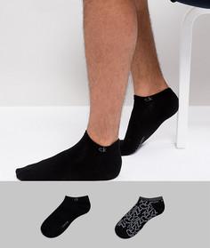 2 пары носков с логотипом Calvin Klein - Черный