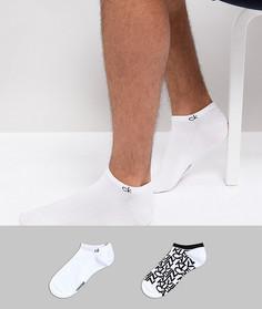 2 пары низких носков с логотипом Calvin Klein - Белый