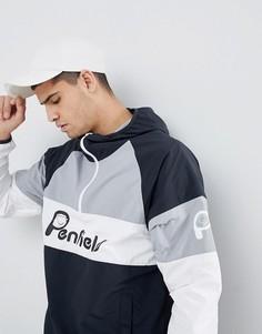 Черно-бело-серая куртка с капюшоном и логотипом Penfield - Черный