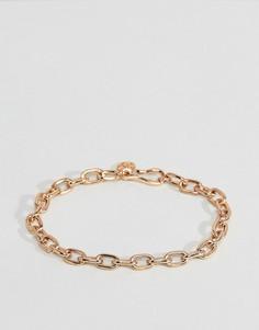 Золотистый браслет Chained & Able Hermes - Золотой