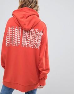 Oversize-худи с логотипом на спине Cheap Monday - Розовый