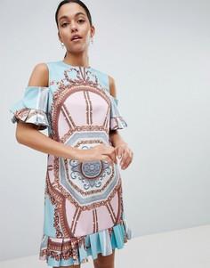 Платье с оборками и принтом Ted Baker Norahe - Мульти