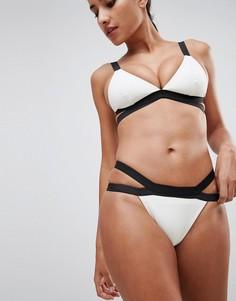 Плавки бикини с двойными ремешками Missguided - Белый