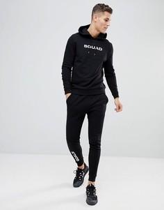 Спортивный костюм из худи и облегающих джоггеров с принтом ASOS - Черный