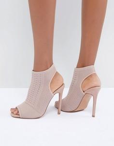 Туфли на высоком каблуке с трикотажной отделкой ASOS DESIGN Harlem - Розовый