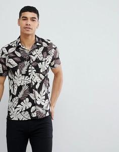 Рубашка с короткими рукавами и отложным воротником Religion - Черный