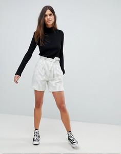 Комбинируемые шорты в полоску с завышенной талией Y.A.S - Белый