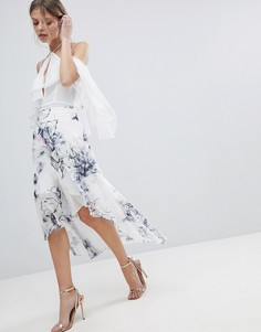Асимметричная юбка с цветочным принтом Coast - Белый