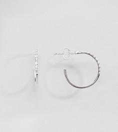 Серебряные серьги-кольца с кристаллами ASOS DESIGN - Серебряный