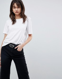Двухслойная футболка Selected - Белый