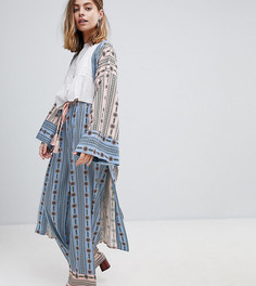 Широкие брюки с цветочным принтом Sisters Of The Tribe Petite - Синий