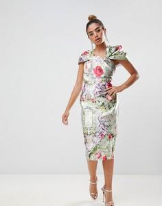Платье-футляр миди с принтом ASOS DESIGN - Мульти