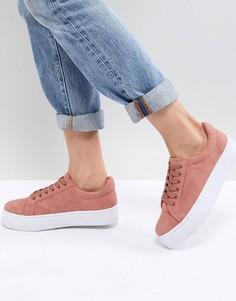 Кроссовки на толстой подошве Pieces - Розовый