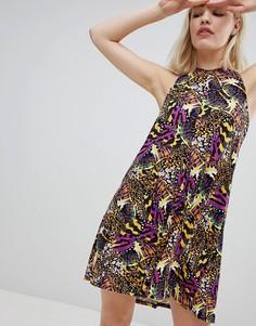 Пляжное платье с завязкой на шее Monki - Мульти