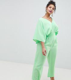 Комбинезон с рукавами-кимоно и широкими брюками ASOS DESIGN Curve - Зеленый