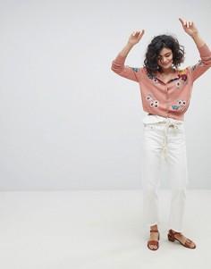 Кардиган с вышивкой ручной работы Intropia - Розовый