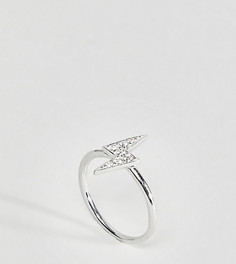 Кольцо с символом молнии Kingsley Ryan - Серебряный