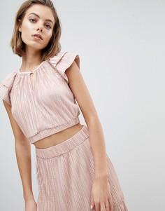 Блузка металлик с мятым эффектом Sabina Musayev - Розовый