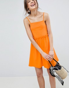 Легкое платье с присборенной юбкой ASOS DESIGN - Оранжевый