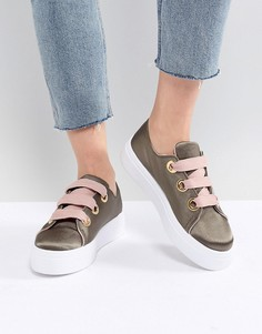 Кроссовки на шнуровке ASOS DESIGN Daxton - Зеленый