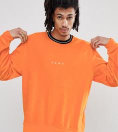 Оранжевый бархатный свитшот с круглым вырезом Puma эксклюзивно для ASOS - Оранжевый