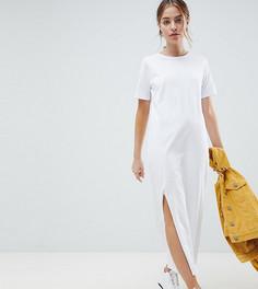 Платье-футболка макси ASOS DESIGN Petite - Белый