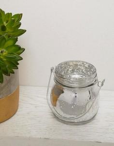 Серебристый держатель для чайной свечи с потрескавшимся эффектом Sass & Belle - Мульти