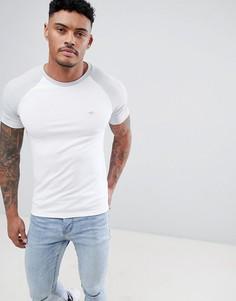 Белая футболка с рукавами реглан и вышитой осой River Island - Белый