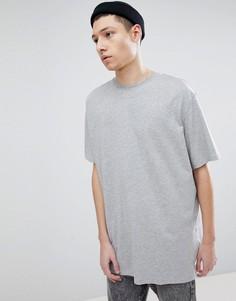 Длинная футболка Weekday - Серый