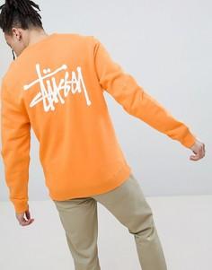 Оранжевый свитшот с логотипом на спине Stussy - Оранжевый