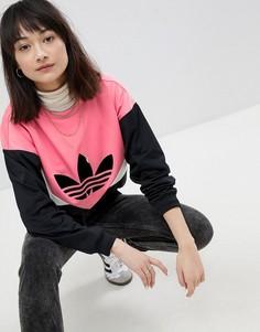Черно-розовый свитшот со вставками adidas Originals Colorado - Черный