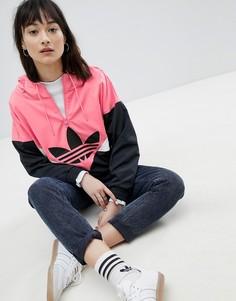 Черно-розовая ветровка со вставками adidas Originals Colorado - Черный