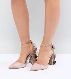 Туфли для широкой стопы на высоком каблуке с отделкой ASOS DESIGN Passionate - Бежевый