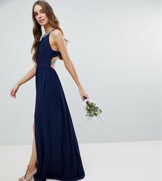 Платье макси с отделкой на спине TFNC Tall - Темно-синий