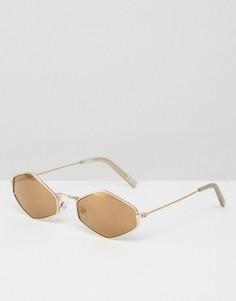 Коричневые солнцезащитные очки ASOS - Золотой
