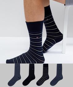 Подарочный набор с 4 парами носков Tommy Hilfiger - Синий