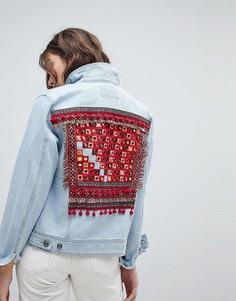 Джинсовая куртка с вышивкой на спине Only - Мульти