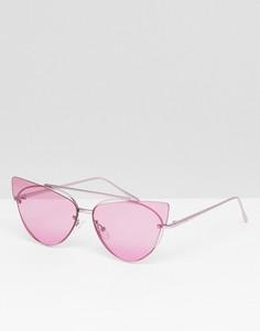 Солнцезащитные очки кошачий глаз ASOS DESIGN - Фиолетовый