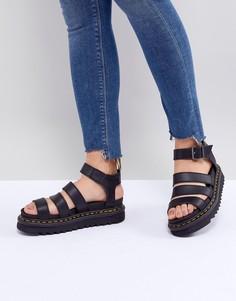 Черные сандалии с ремешками Dr.Martens Blaire Vegan - Черный