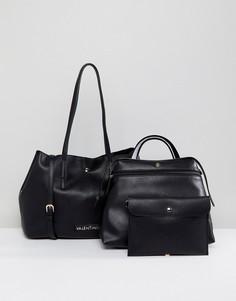 Черная сумка-тоут 3 в 1 Valentino by Mario Valentino - Черный