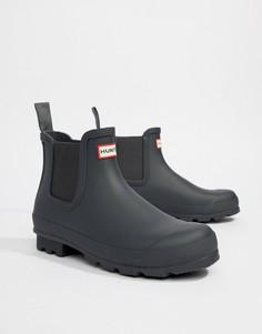 Серые ботинки челси Hunter Original - Серый