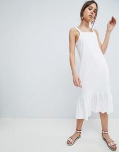 Летнее платье миди ASOS DESIGN - Белый