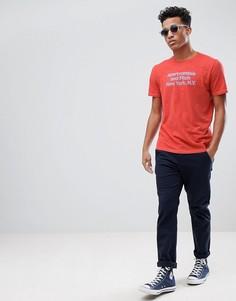 Красная футболка с логотипом Abercrombie & Fitch - Красный