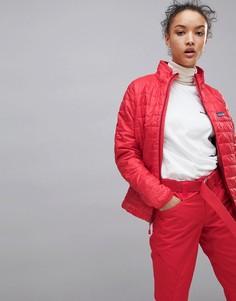 Красная дутая куртка Patagonia Nano - Красный