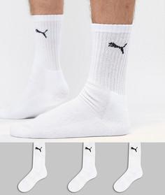 3 пары белых носков Puma 7312300 - Белый