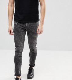 Выбеленные джинсы скинни с цепочкой Brooklyn Supply Co - Черный