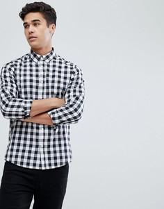 Рубашка в монохромную клетку Solid - Черный