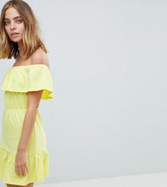 Легкое платье с ярусной юбкой ASOS DESIGN Petite - Мульти